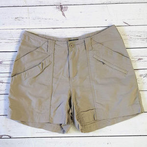 Royal Robbins khaki nylon hiking running shorts